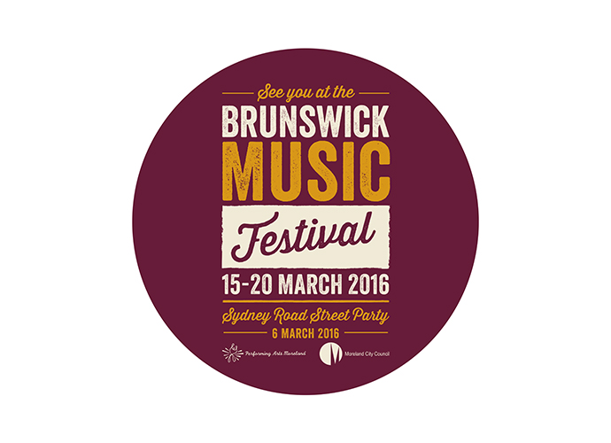 Our third year working on the Brunswick Music Festival
